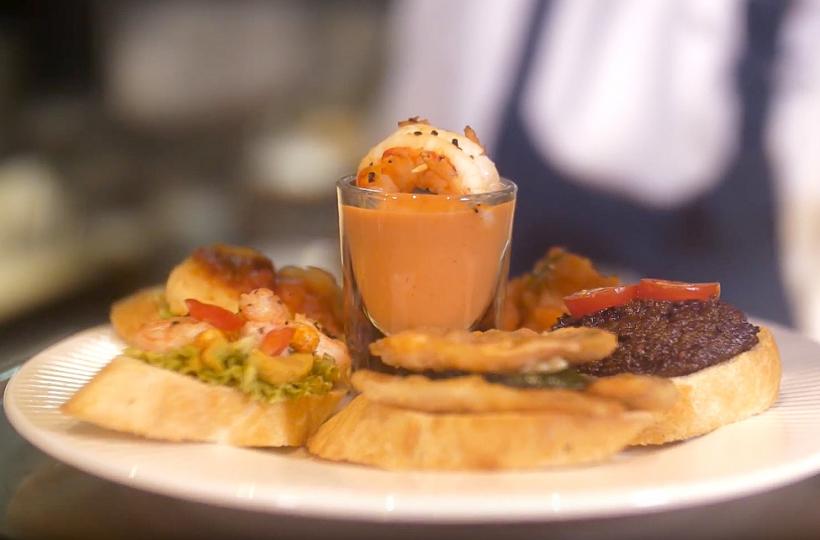 Испанские тапас и пинчос ресторана Barceloneta