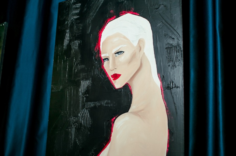 Фотоотчет - Персональная выставка Александры Ремезовой в Sunset&Brut 21.12