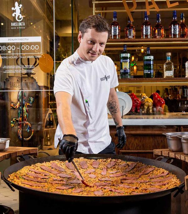 Уникальная паэлья с осьминогом и гребешком от шеф-повара Алексея Павлова